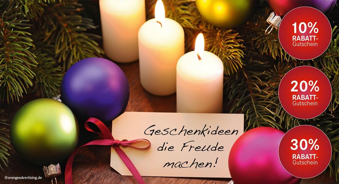 Mailing Weihnachten – Geschenkideen die Freude machen