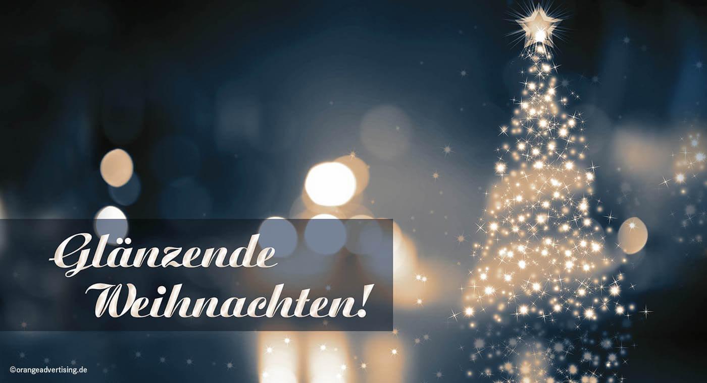 Mailing glänzende Weihnachten