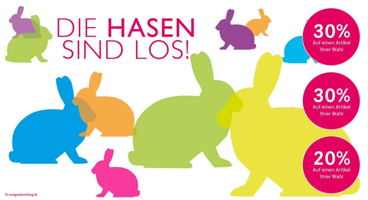 Mailing die Hasen sind los zu Ostern