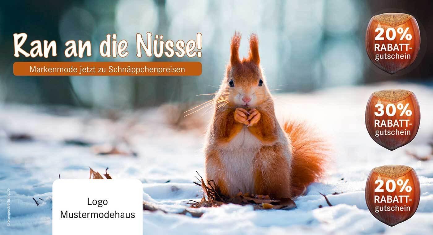 Mailing Eichhörnchen Ran an die Nüsse