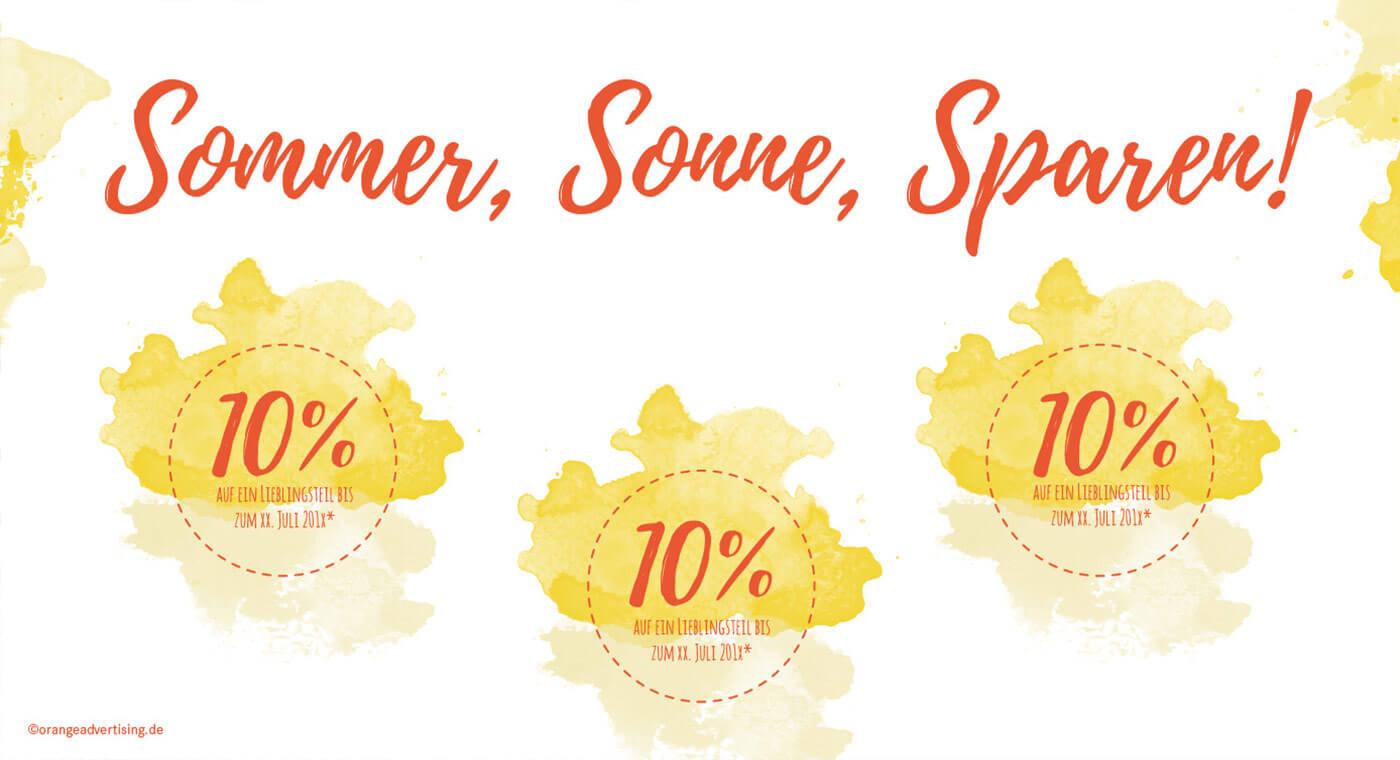 Mailing – Sommer, Sonne, Sparen