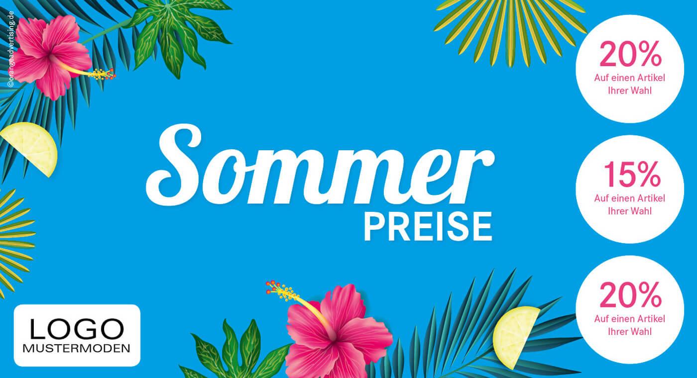 Mailing – Sommerpreise Blue Ocean