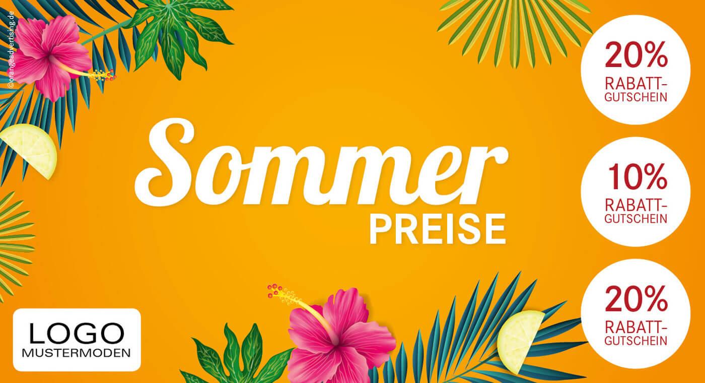 Mailing – Sommerpreise