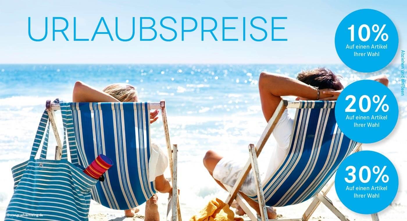 Mailing Sommerurlaub mit Liegestühle