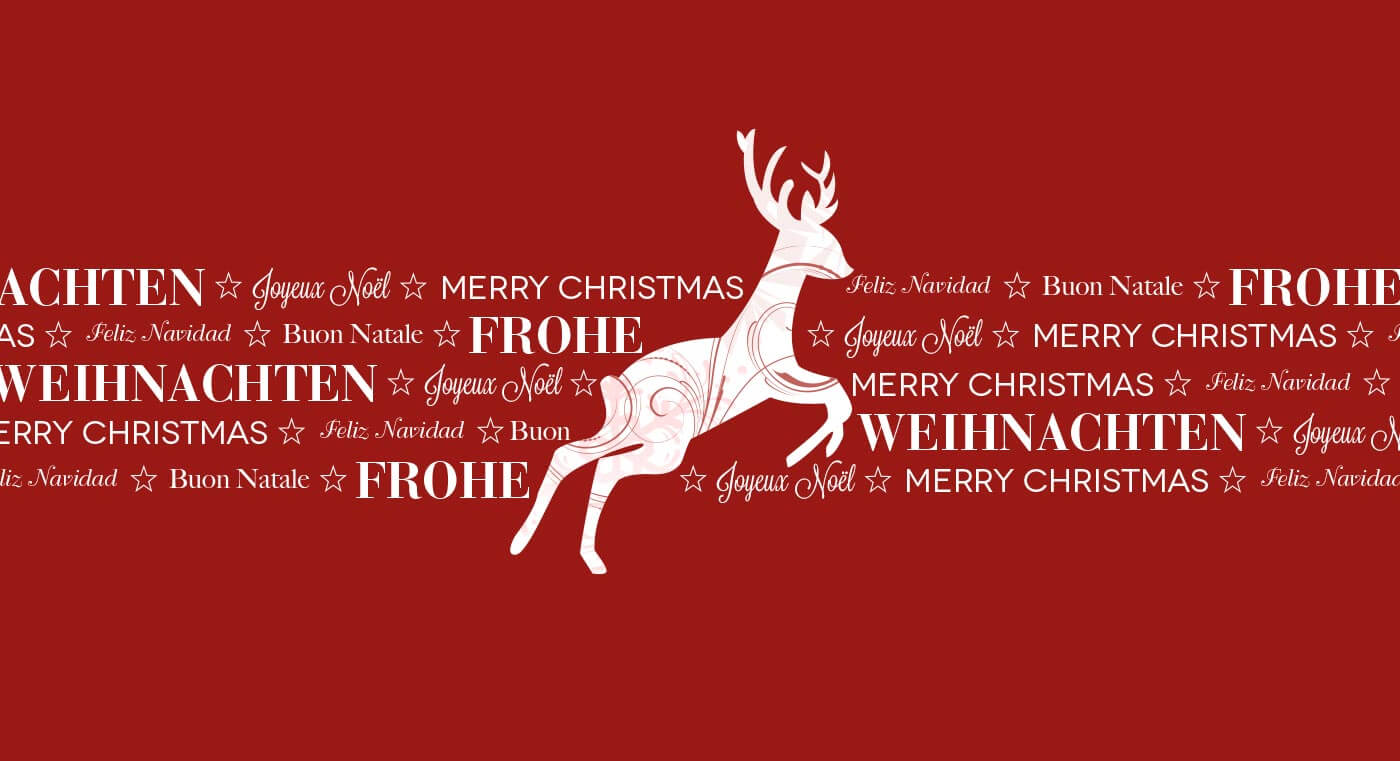 Mailing Rentier zu Weihnachten