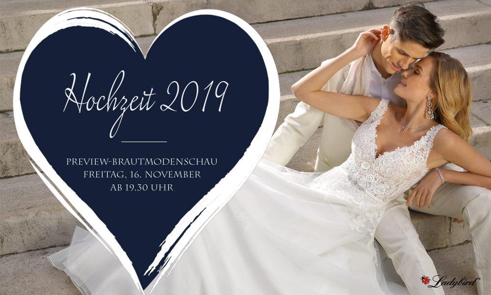 Preview-Brautmodenschau am 16.11.2018